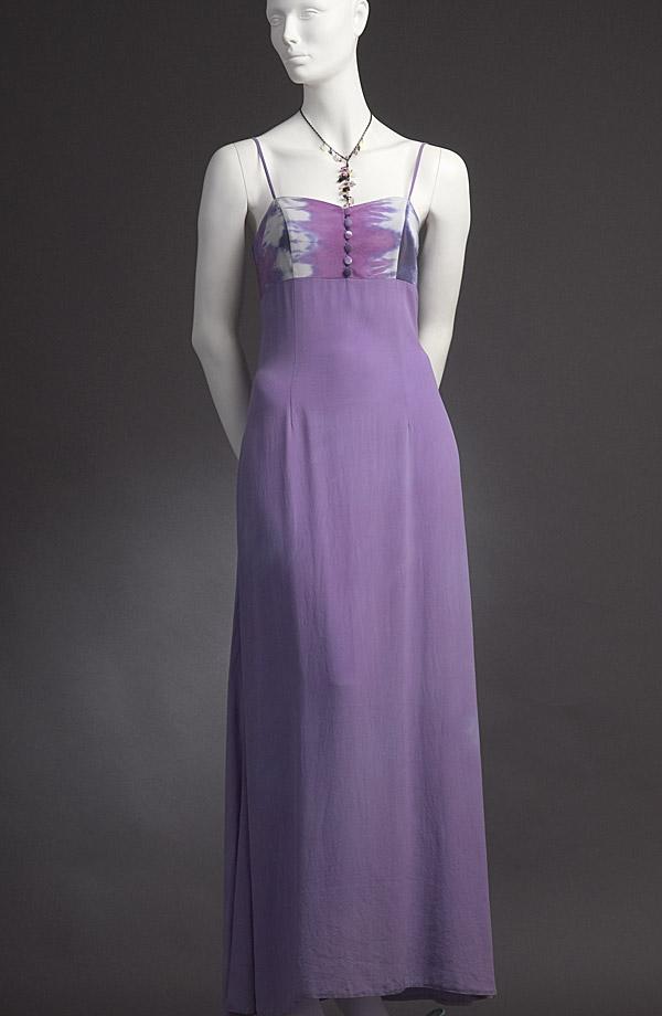 Ručně batikované hedvábné šaty s kabátkem  a784aaac2c