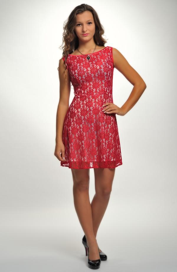 9a4f5110145d ... krajkové Retro šaty do tanečních - krátké