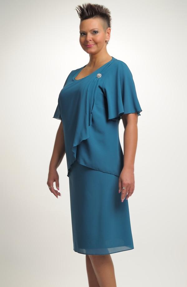 Dámské společenské šaty vhodné pro velké a nadměrné velikosti (XL 4028a3eb6e