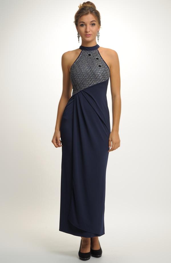 Elegantní dámské dlouhé večerní šaty  94a12f92dd