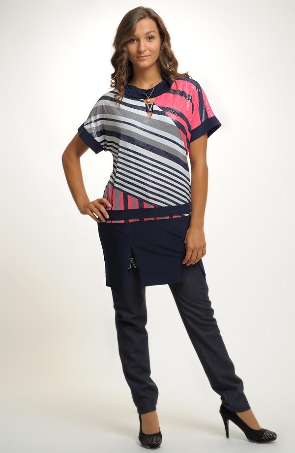 Tunika z luxusní pleteniny s asymetrickým vzorem Tunika z luxusní pleteniny  s asymetrickým vzorem ... 484d139bba