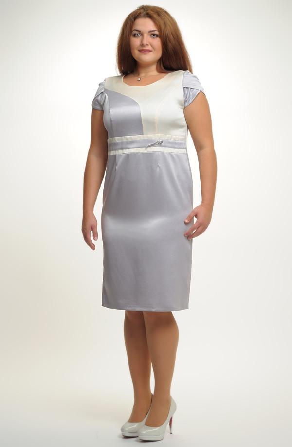 Společenské šaty na svatbu pro větší velikosti XXL - výprodej  f1c8c2d7f0d