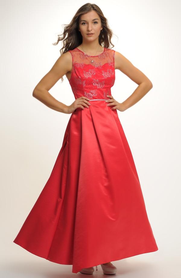 Plesové červené šaty na maturitní ples. Vel. 496dd89b5df