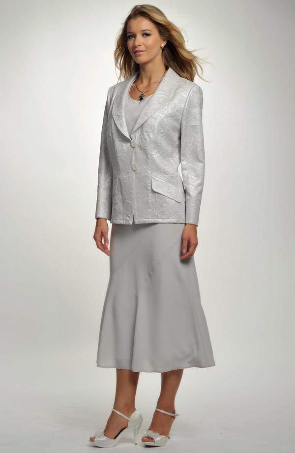 Dámský kostýmek s dílovou sukní  2cdb34479e