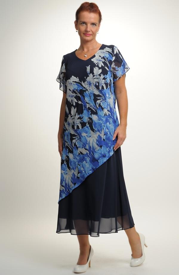Dlouhé šifónové společenské šaty ... 3ccb0cbc3b