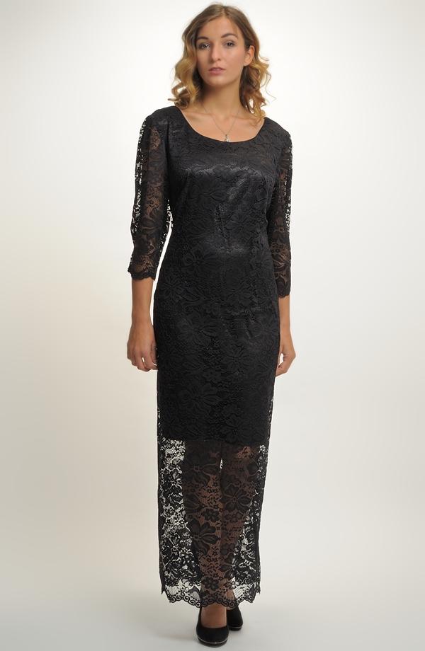 f26eb0b205f Elegantní dámské dlouhé večerní šaty s krajkou
