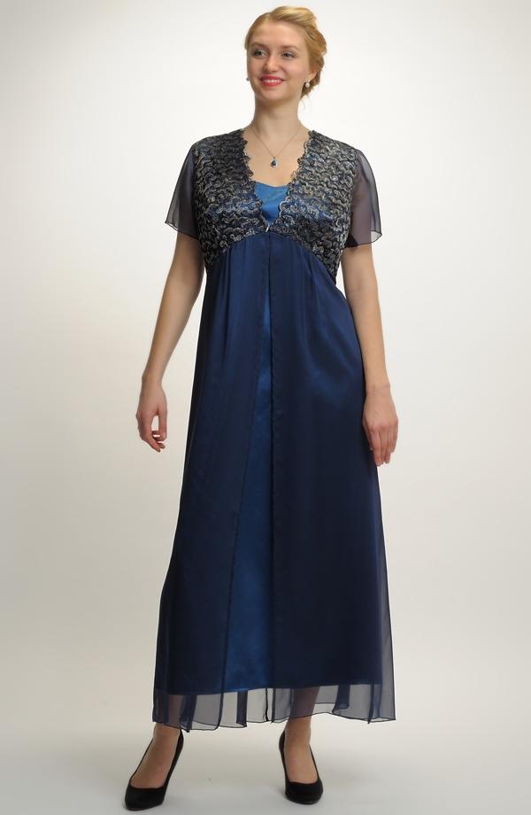 Šifonové šaty ve velikosti 48 870132684c