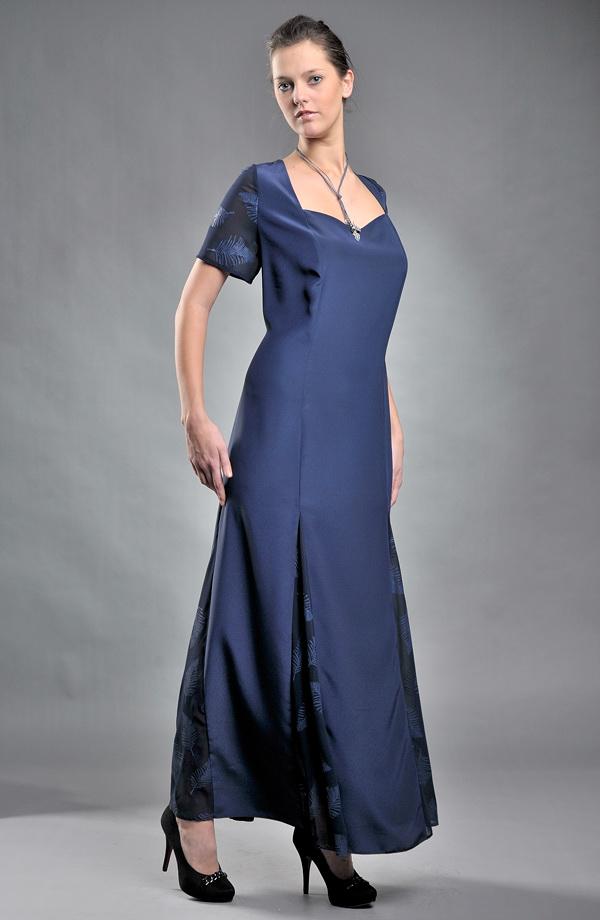 08b5a8143d2d 48   XXL Plesové šaty Dámské dlouhé společenské šaty v modré - levné