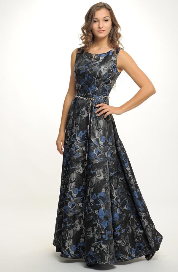 4f29166ee36d Luxusní dlouhé plesové šaty v retro stylu. Vel.