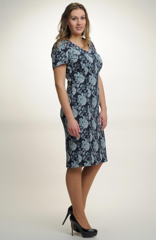 Krátké elegantní společenské šaty v modré barvě vel. 40 334de177bd