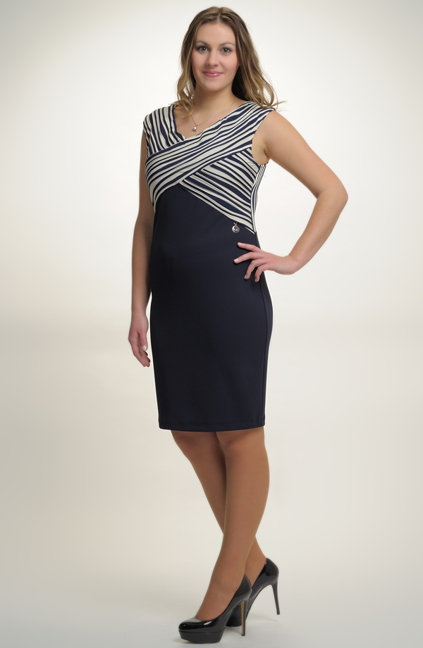Pouzdrové šaty s děleným sedlem. Vel. 42 a988f154da9
