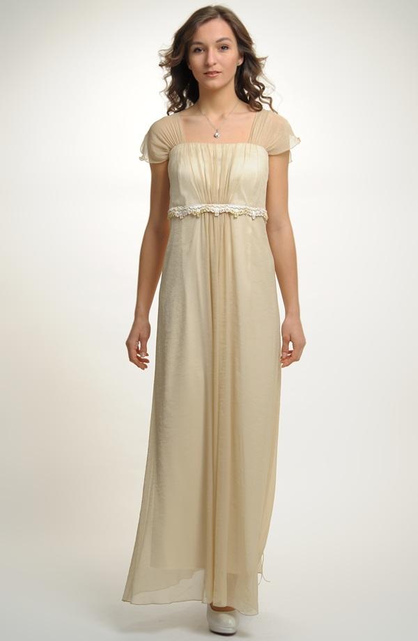 9bdf9740e04 Antické svatební šaty pro plnoštíhlé postavy s řasením a krajkovou portou s  korunkami