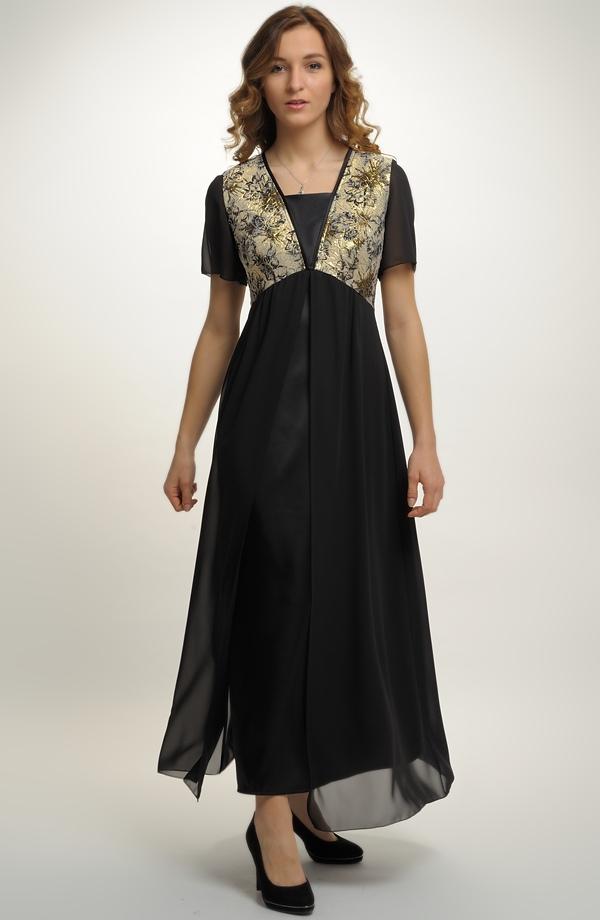 49ade9fc982 Dlouhé společenské šaty pro plnoštíhlé a silnější postavy