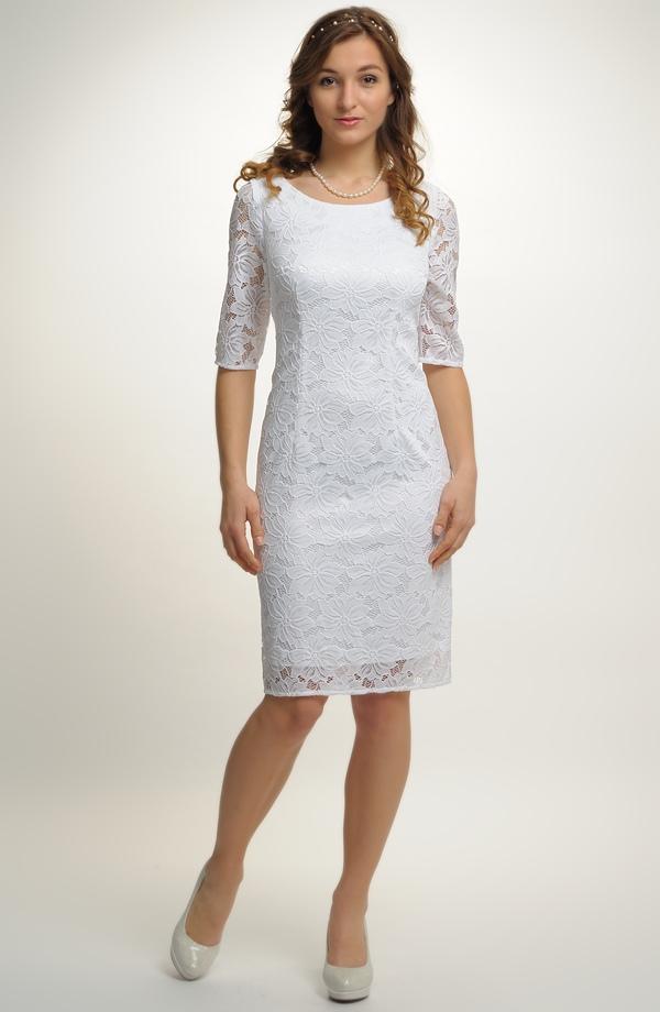Bílé krajkové šaty na svatbu ... 6cf6b21755