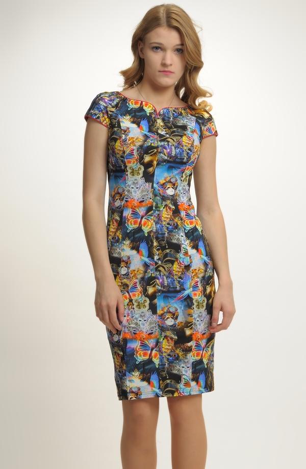 0040d22384b Pleteninové dámské elegantní šaty do práce ...