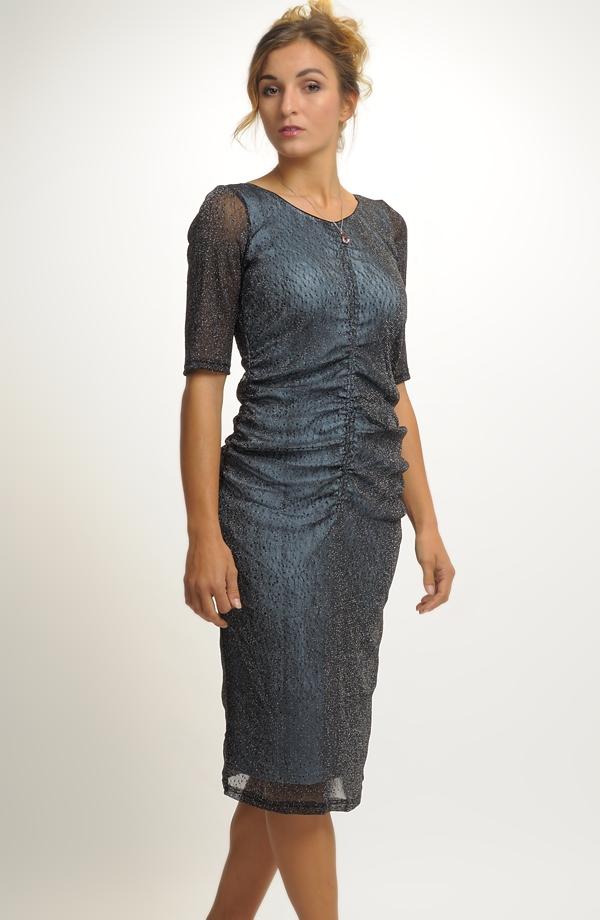 Krátké elegantní společenské šaty v modré barvě vel. 40 3c09f8a3657