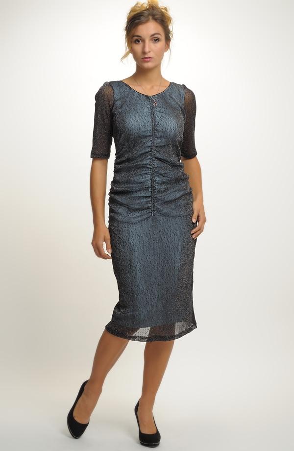 8b8a524d07f ... Krátké elegantní společenské šaty v modré barvě vel.